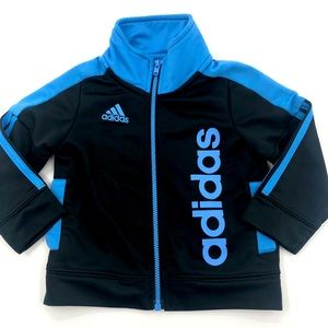 9 Month Adidas Like New Warm Up Zip Up